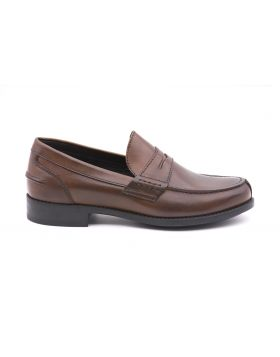 Woman college moccasin in leather