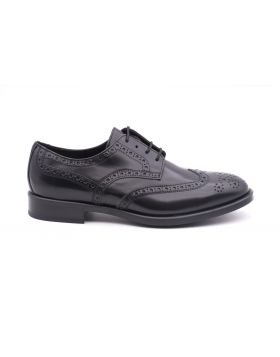 Derby Man Brogue in shiny leather