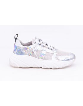 WOMEN'S LEATHER AND FABRIC SNEAKER-ABB4